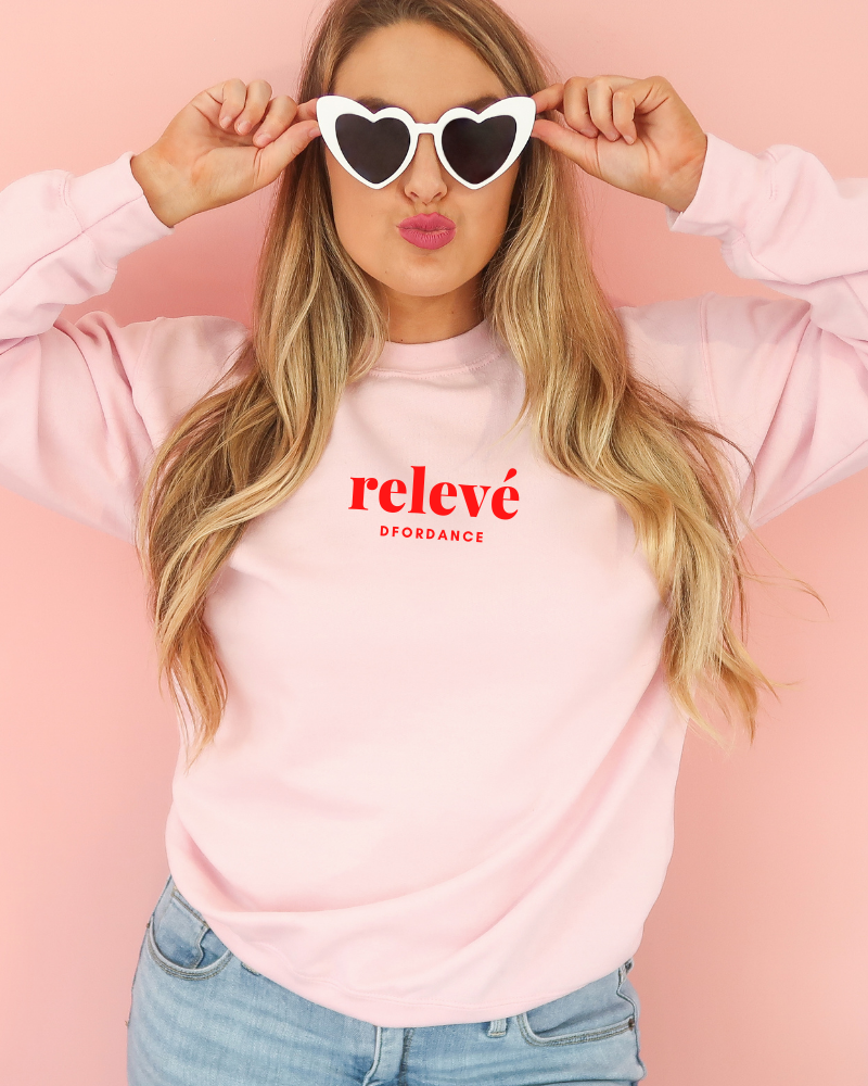 Loose fit sweater Relevé - soft pink-1