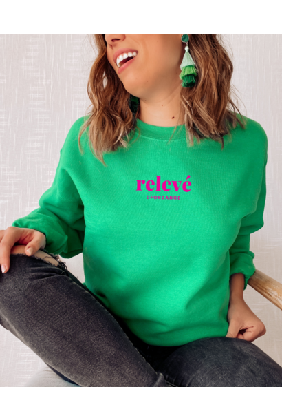 Loose fit sweater Relevé - green