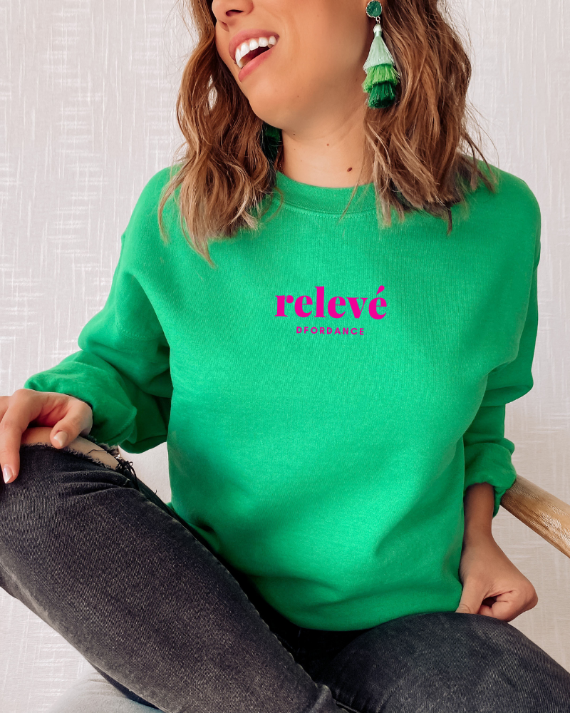 Loose fit sweater Relevé - green-1