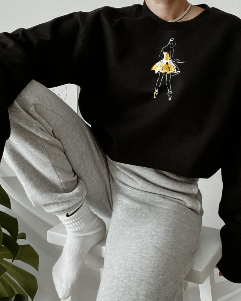Sweater 'At the barre' - black & gold | Art Collection-2