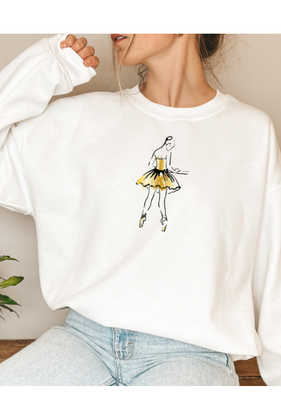 Sweater 'At the barre' - white & gold | Art Collection