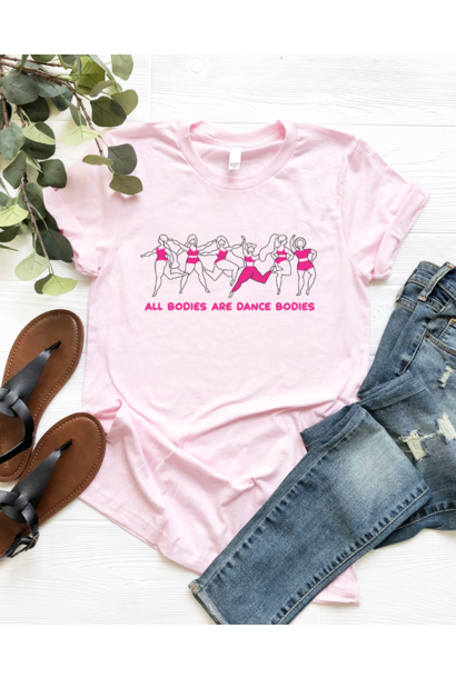 Casual T-shirt Dance bodies - baby pink