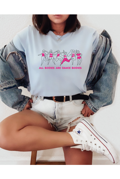 Casual T-shirt Dance bodies - baby blue