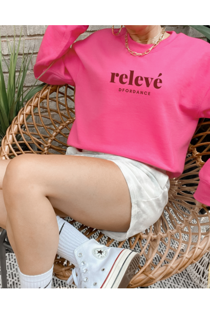 Sweater Relevé - bright pink