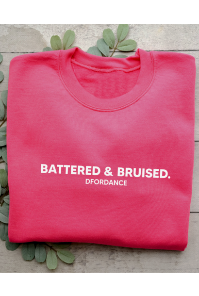 Sweater Battered & bruised - bright pink