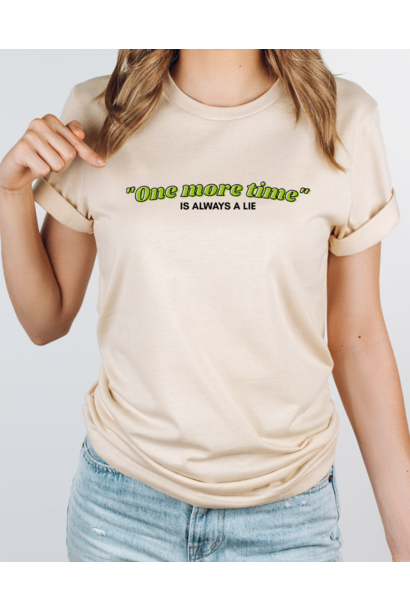 T-shirt One more time - vanilla