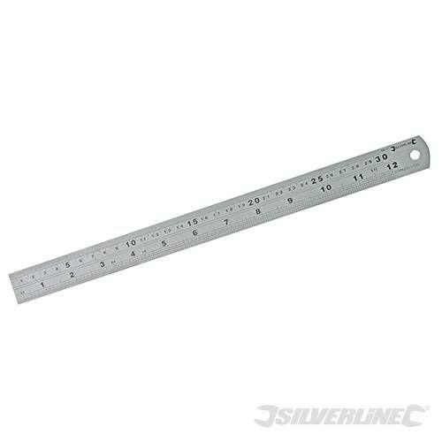 Silverline Stalen liniaal