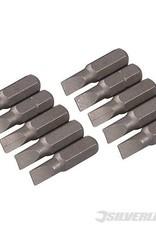 Silverline Bits- Sleuf (Cr-V schroevendraaier bits 25 mm)