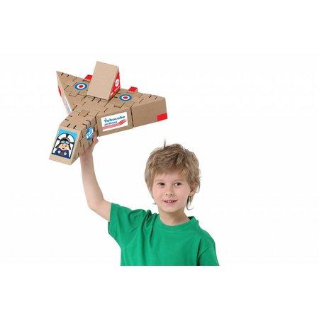 Yohocube Bouw met kartonnen bouwdoosjes een vliegtuig