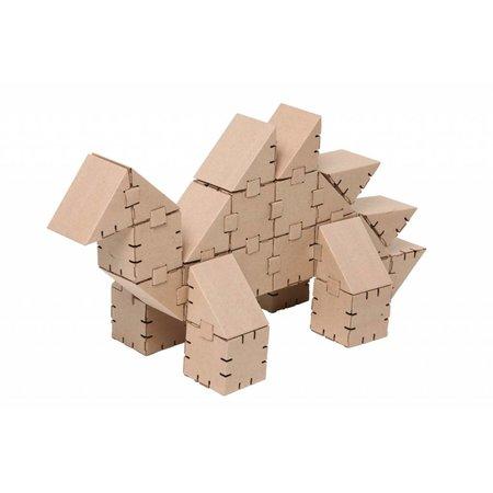 Yohocube Bouw met kartonnen bouwdoosjes een dinosaurus Stego