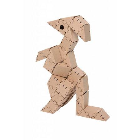 Yohocube Bouw met kartonnen bouwdoosjes een dinosaurus Igu