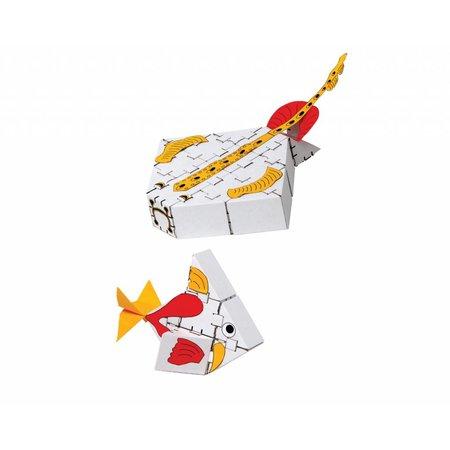 Yohocube Bouw met kartonnen bouwdoosjes witte zeevissen
