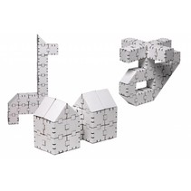 Kartonnen bouwdozen, witte Basisset klein