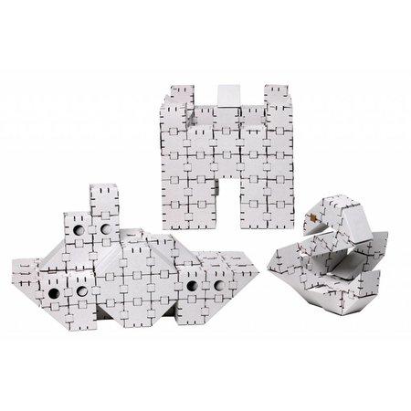 Yohocube Bouw met witte bouwdoosjes veel verschillende modellen