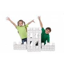 Kartonnen bouwdozen, witte Basisset groot