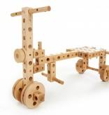 Pony Beukenhouten constructie bouwdoos miniset, 71 onderdelen
