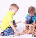 Pony Beukenhouten constructie bouwdoos medium set, 118 onderdelen