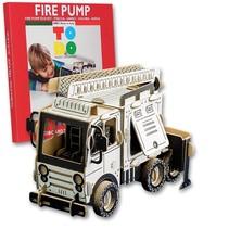Kartonnen brandweerwagen