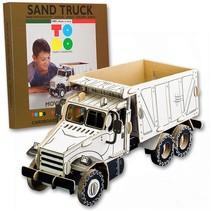 Kartonnen vrachtwagen kipper