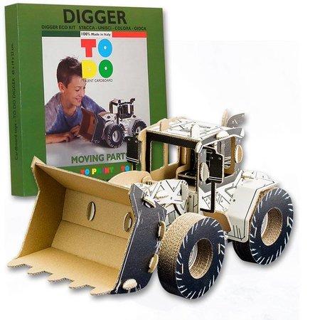 ToDo Bouw een bulldozer uit karton