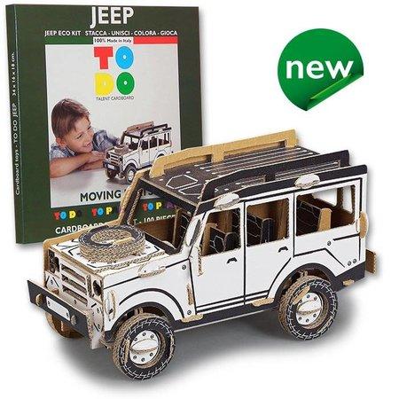 ToDo Bouw een landrover jeep uit karton