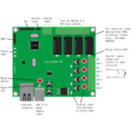 Velleman Ethernet Relaiskaart VM204