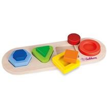Houten 3D puzzel 9 delig