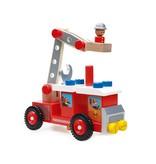 Scratch Houten brandweerwagen 26 delig