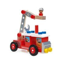Houten brandweerwagen 26 delig