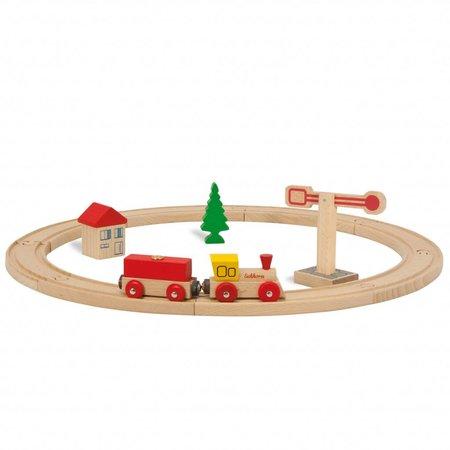 Eichhorn Houten cirkelvormige treinset, 15 delig