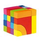 Goki Houten blok- en legpuzzel in kleur