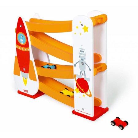 Scratch Rolling slope raket autobaan met 3 autootjes