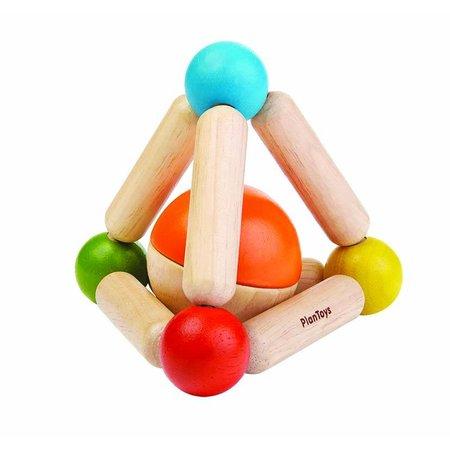 Plan Toys Plan Toys Houten rammelaar, driehoek