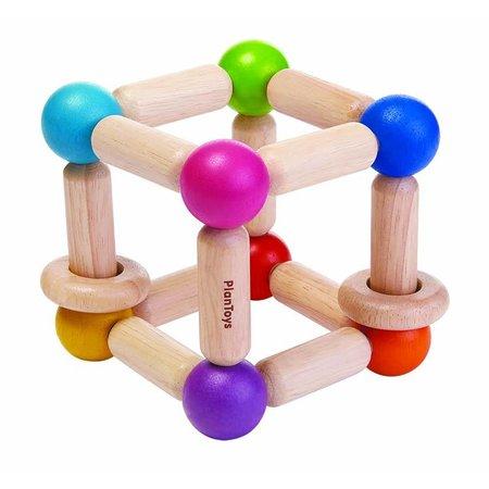 Plan Toys Plan Toys Houten rammelaar, kubus