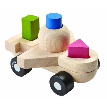 Plan Toys Plan Toys Houten sorteerpuzzel, vliegtuig