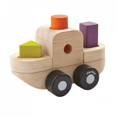 Plan Toys Plan Toys Houten sorteerpuzzel, boot