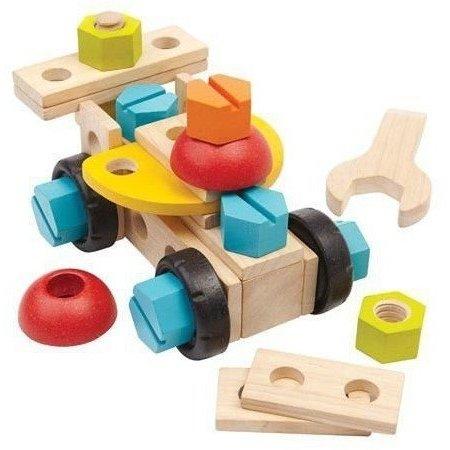 Plan Toys Plan Toys Houten constructieset - 40 delig