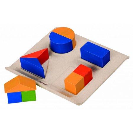 Plan Toys Houten geometrische vormen sorteren