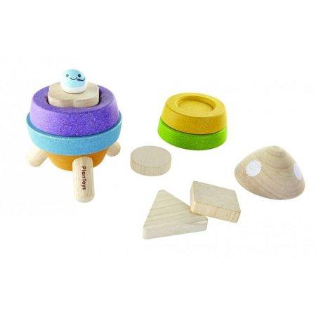 Plan Toys Plan Toys Houten Houten sorteerpuzzel, raket