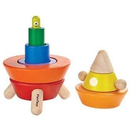 Plan Toys Plan Toys Houten sorteerkegel, raket