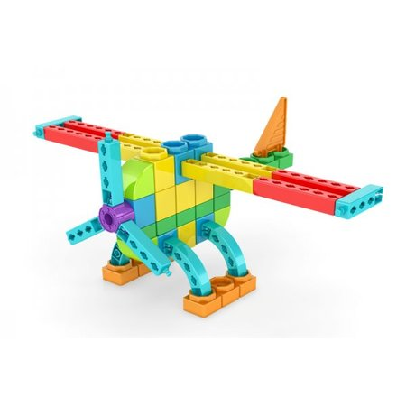 Engino Engino QBOIDZ 4 in 1 model, stunt vliegtuig