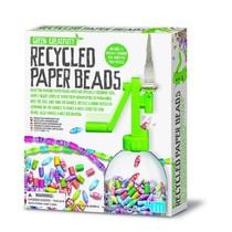 Green creativity gerecycleerde papieren kralenketting