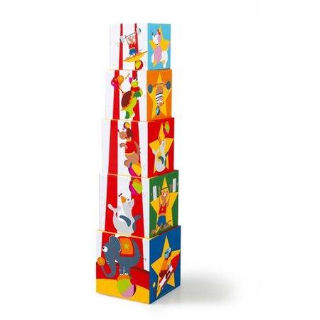 Scratch Stapeltoren Circus 5 stuks