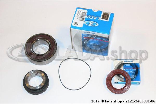 LADA 2121-2403081-86, LH Rear wheel repair kit Niva Met 2110 afdichtring 35x57x9 vanaf 2004 >>