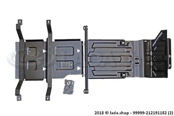 LADA 99999-212191182, Protección del cárter. caja de cambios y RK LADA 4x4