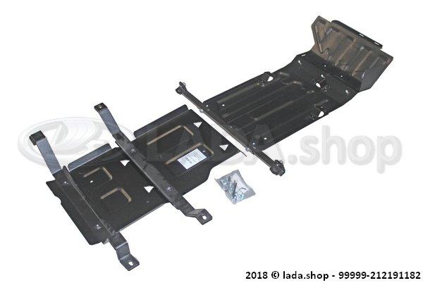 LADA 99999-212191182, Schutz von Kurbelgehäuse. Getriebe und RK LADA 4x4