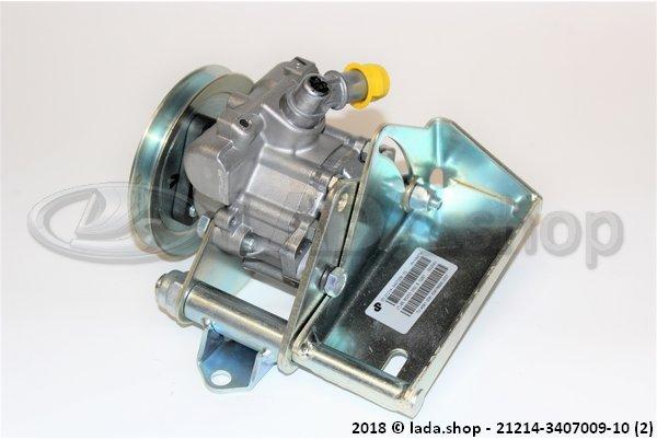 LADA 21214-3407009-10, Bomba de la dirección hidráulico con soporte
