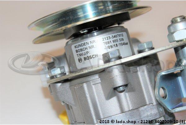 LADA 21214-3407009-10, Pompe à huile direction hydraulique avec support