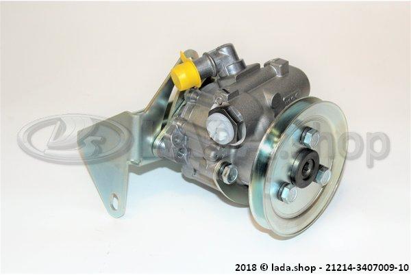 LADA 21214-3407009-10, Direção hidráulica da bomba de óleo com suporte