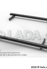 LADA 99999-2121441-18, Door side steps black LADA 4x4 3 doors